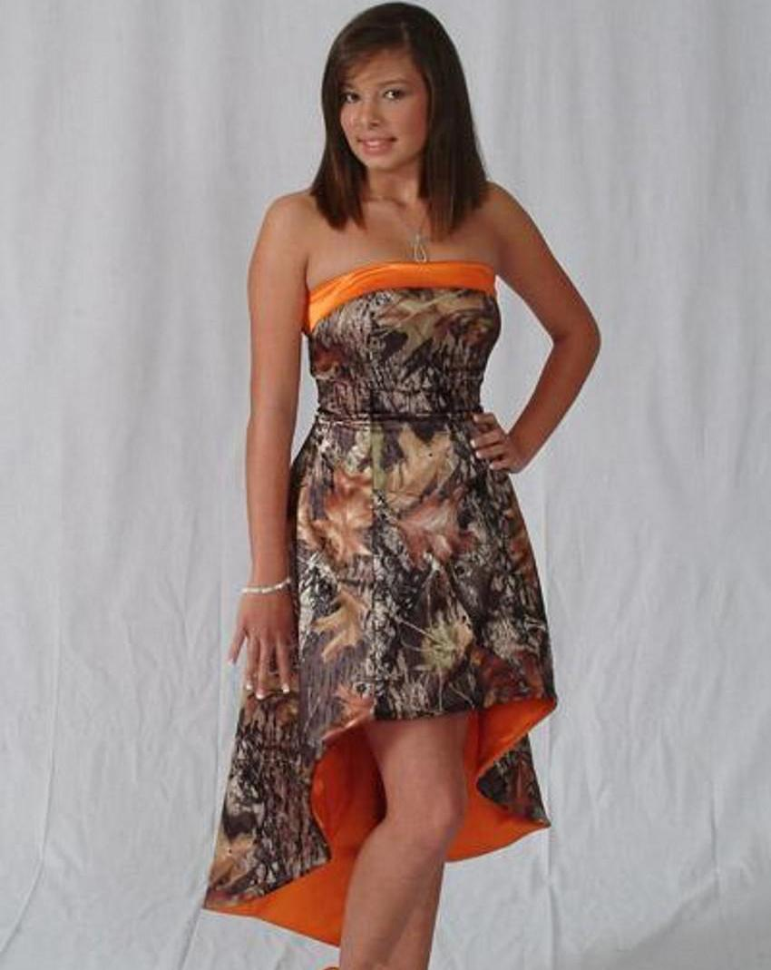 Camo weddings camouflage bridesmaid dresses 2015 custom made short camo weddings camouflage bridesmaid dresses 2015 custom made short front long back hi lo strapless gowns bridesmaid dresses camo bridesmaid dresses hi lo ombrellifo Image collections