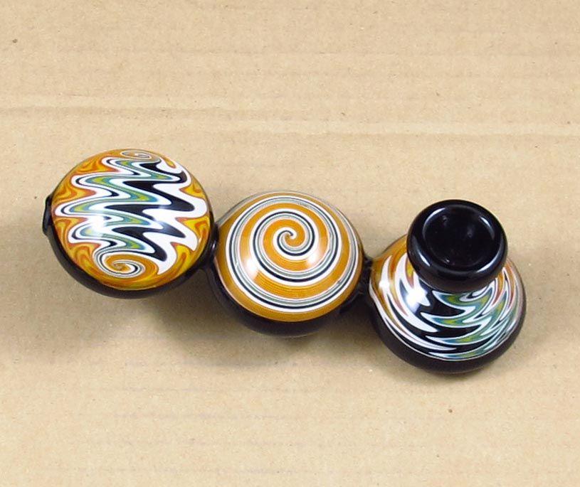 Trois ball couleur changeante verre tuyau de fumée coloré main coloré à la main barboteur bong livraison gratuite en gros