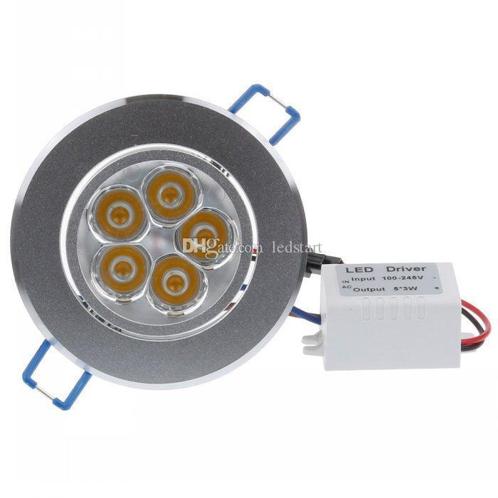 CREE Led Recessed Downlights 9W 12W 15W 21W 27W 36W Dimmable Led Down Lights AC85-265V led Lighting Warm/Pure/Cool White CE ROHS