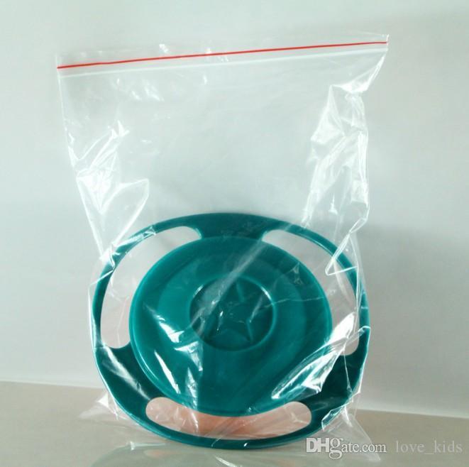 360 Rotación infantil a prueba de derrames, alimentación sin derrames Todoterreno Gyro cuenco con tapa Evitar alimentos derrames Tazón de creación para niños como suministros de alimentación