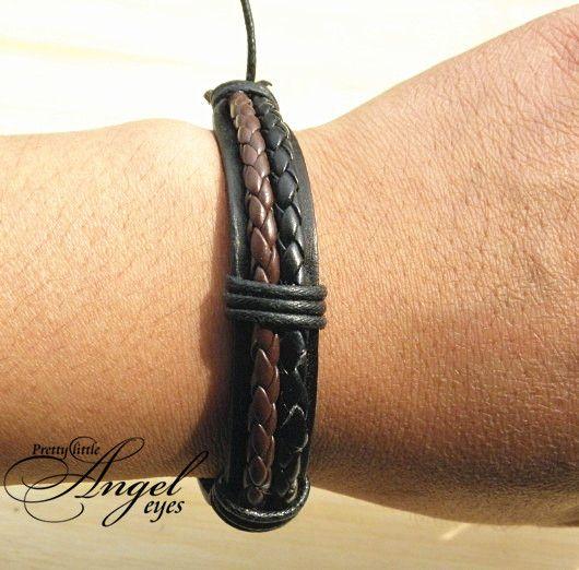 Doppel-echte Leder-Verpackungs-Geflochtene Armbänder breite Punkarmband Hanf-Armband Art und Weise Männer Frauen Handgemachte Neue Großhandels