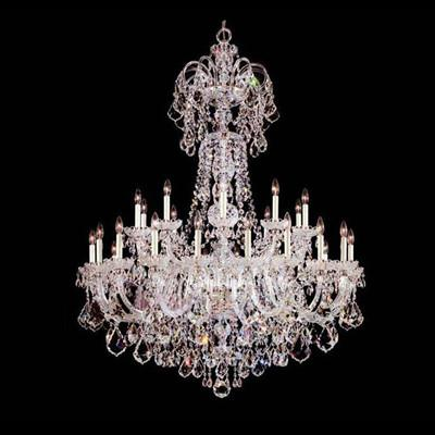 30 lights candle holders chandelier Modern large crystal chandelier Star hotel big LED chandelier E14 led pendant lamp lustres de cristal