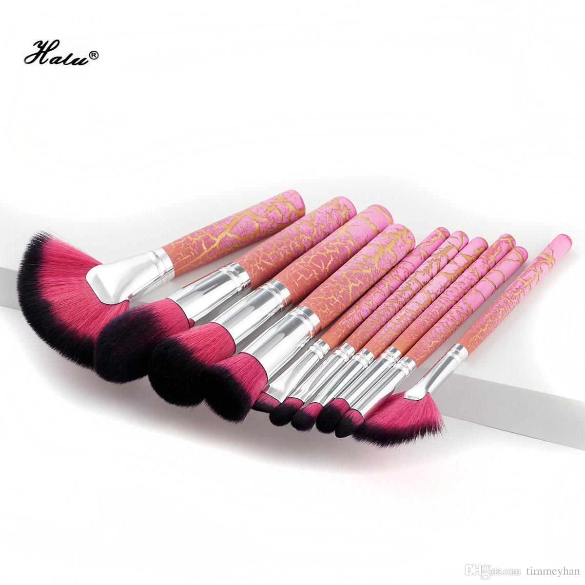 chaude rose fissure poignée maquillage pinceaux brosse de maquillage licorne ensemble Fondation Blush mélange fard à paupières cosmétique outil Kit