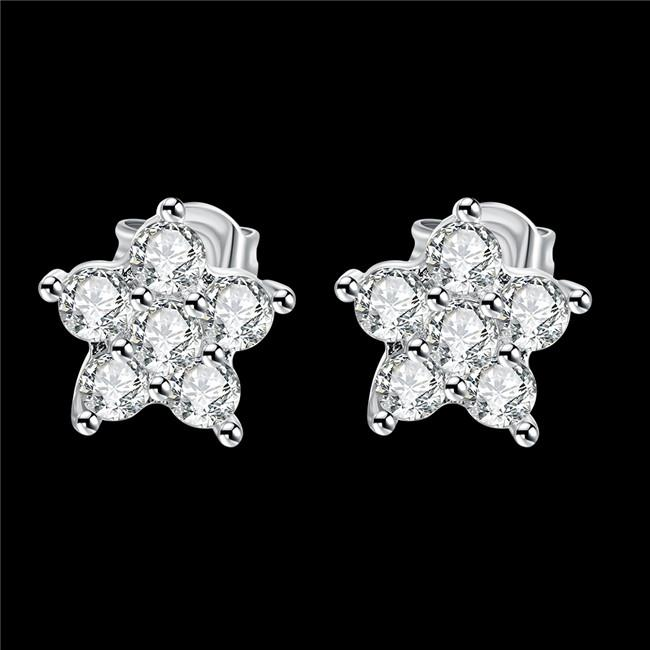 7d350b069 2016 New Design Real Platinum Plated Stud Earrings with AAA Grade ...