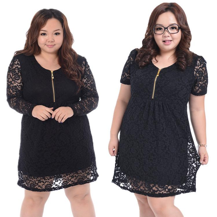 New Fashion Fat Women Embroidery Lace Cheap Plus Size For Big Size