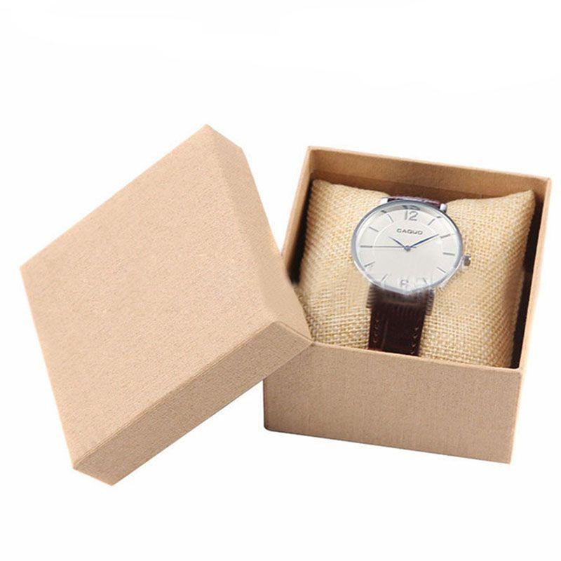 scatole di orologio singolo sacco singolo orologio da polso casi cuscino gioielli collezione contenitori l'immagazzinamento scatole container 230133