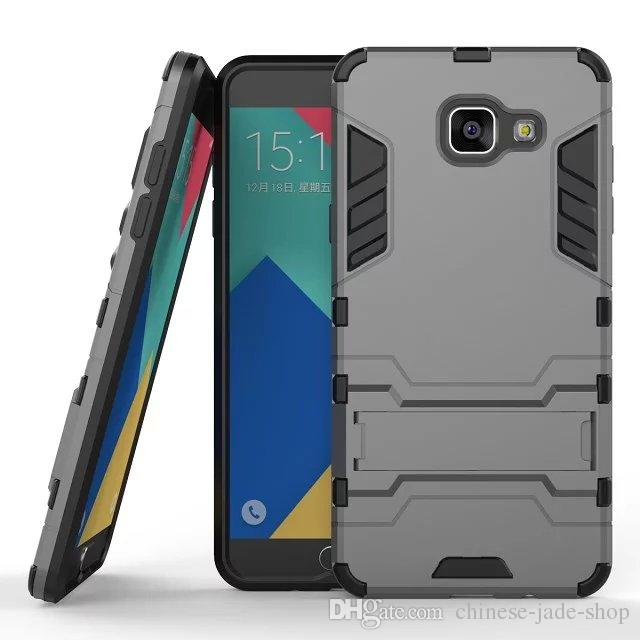 إلى Samsung Galaxy J2 Prime J3 Prime A3 A5 2017 J3 2017 J3 PRO J5 PR0 J7 PRO Hybrid KickStand Anti Shock Defender Armor Case TPU + PC cover 50