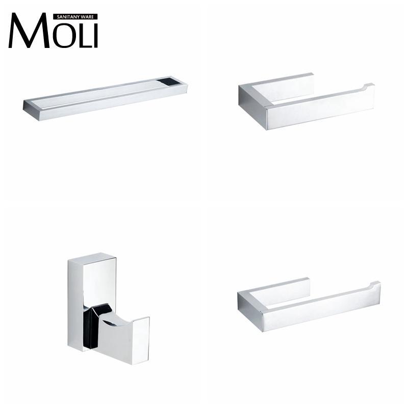2017 bathroom accessories set square towel bartoilet paper holder robe hook towel holder towel rackwall hanger bath hardware set from wdl88
