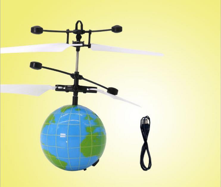 Brinquedo RC EpochAir RC Bola Voando Helicóptero Bola Embutida Shinning LED de Iluminação para Crianças Adolescentes Flyings Coloridos Feb10
