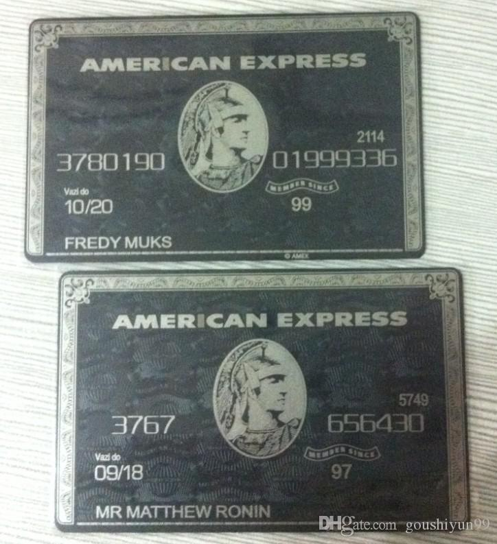 2019 AMERICAN CENTURION EXPRESS BLACK CARD AMEX ** Customize It