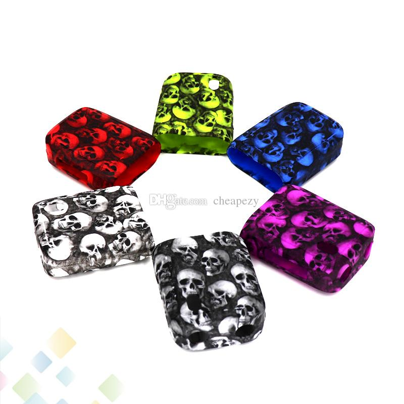 Skull Case Swag 80W Box Mod Proect Case Skull Head Soft Silicone Rubber Carry Bag Cover for Vaporesso Swag 80 Mods DHL Free