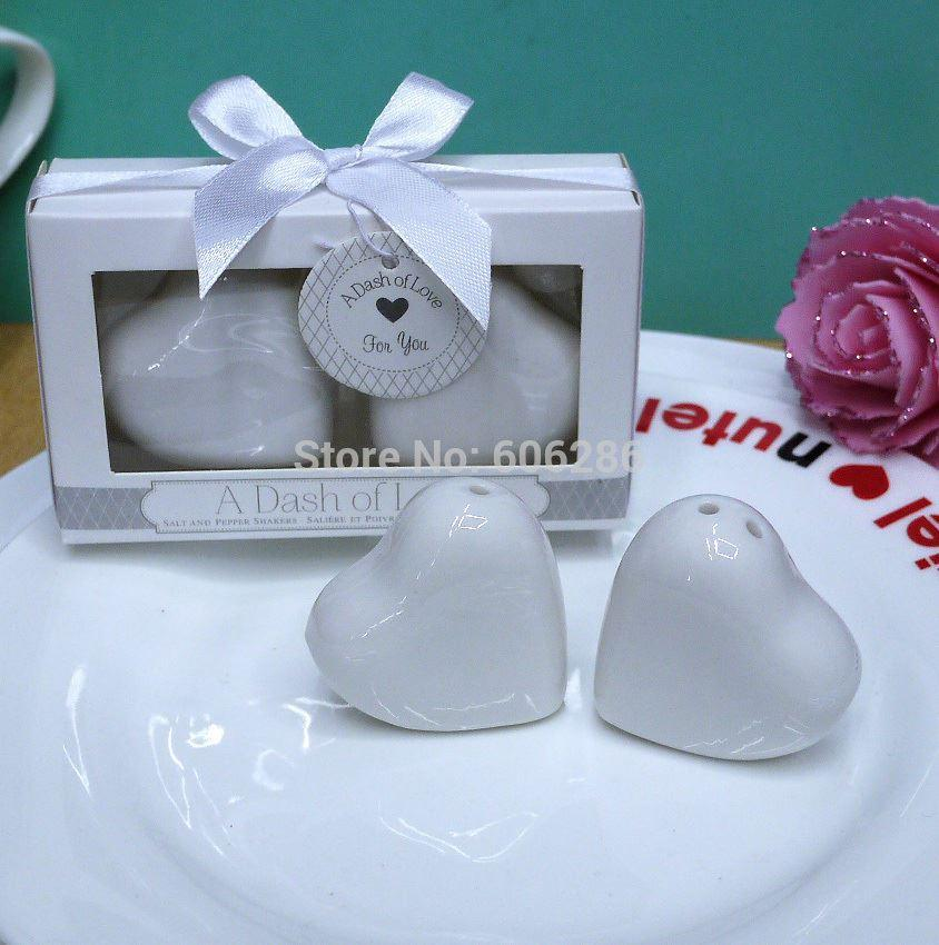 Wedding Door Gifts And Party Favors A Dash Of Love Ceramic Salt And