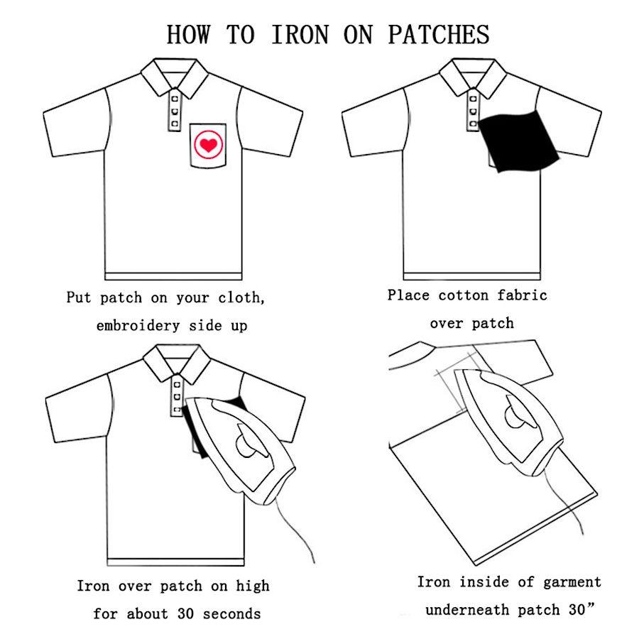 10 ADET Oyun Kartı Giyim Çanta için Bir Yamalar Demir on Transfer Aplike Yama Çocuklar için Kot DIY Nakış Rozeti dikmek