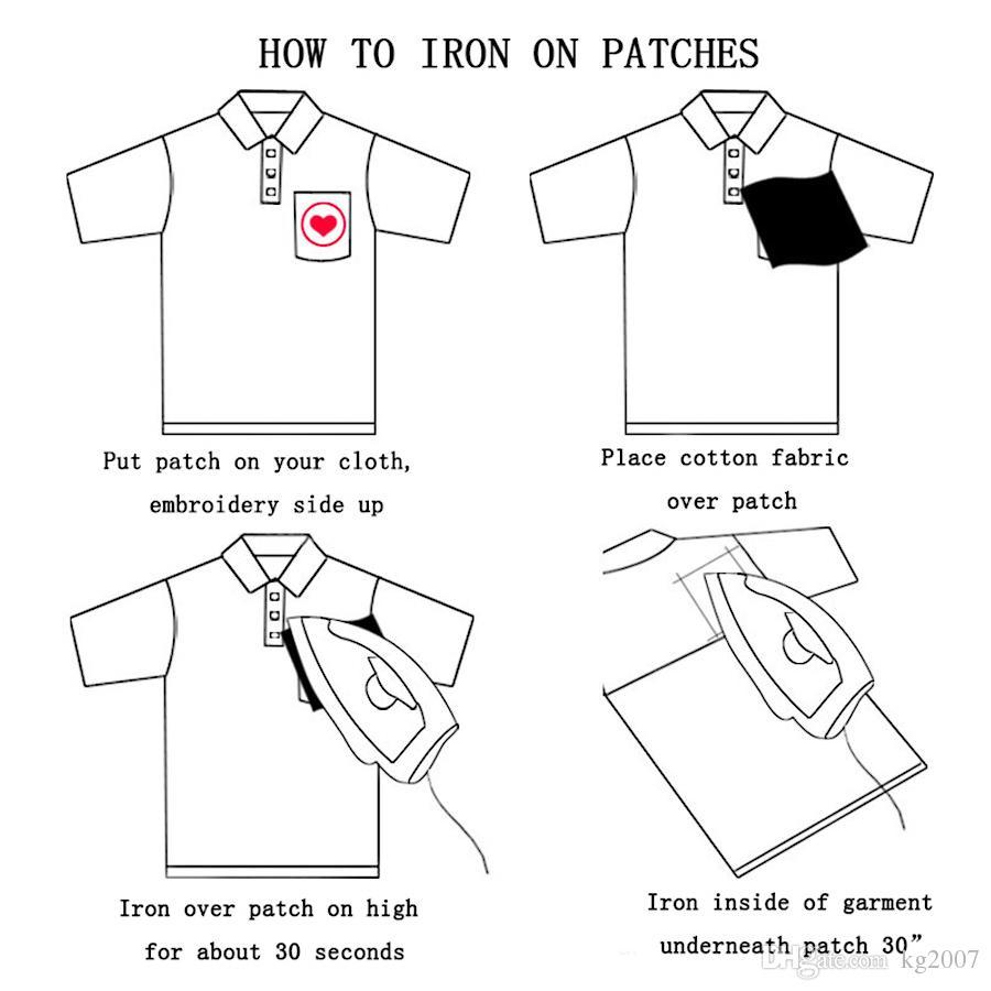 recourbe-cils ecussons brodés pour vêtements de fer sur le transfert pour Jeans Patch Applique Sacs de bricolage coudre Autocollants broderie