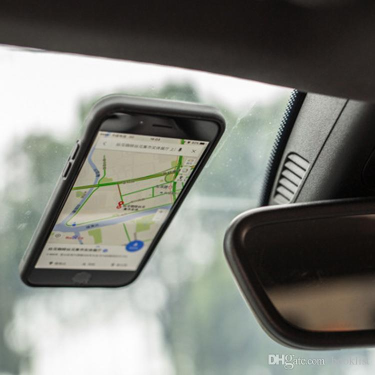 Antischwerkraft Selfie magischer nano klebriger Absorption hybrider PC TPU Abdeckungs-Fall für iPhone 7 Plus 6 Plus 5s 6s Samsung S7 S6 Rand plus Note5 neu