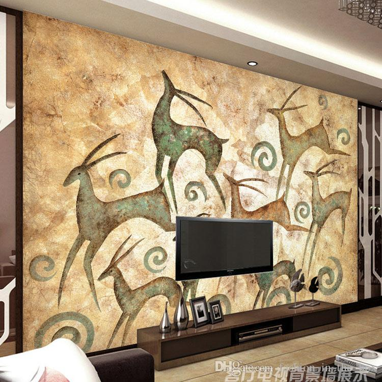 Abstract Painting Photo Wallpaper Elk Totem Wall Murals Custom 3d Bedroom Living Room Office Shop Art Decor Home Decoration Wallpapers