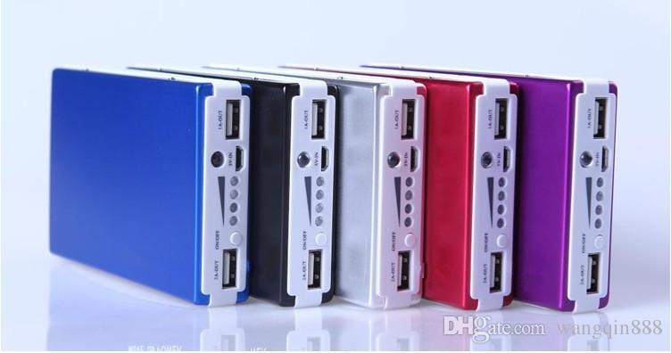 Zasilanie 15000 MAH, podwójna ładowarka USB, bateria na telefon komórkowy, adapter aparatu cyfrowego, latarka LED