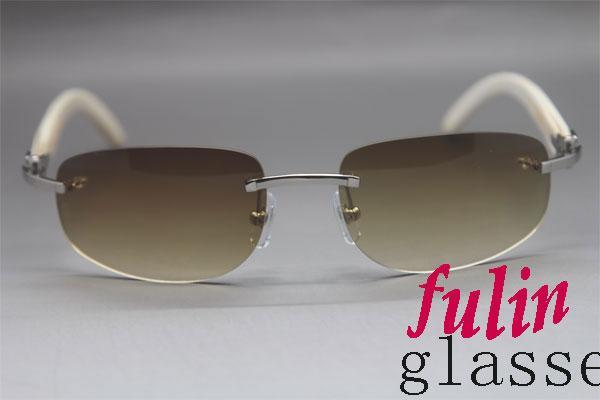 الجملة بدون إطار نظارات شمسية الخضراء مع علبة هدية الأبيض حقيقية بافالو النظارات الشمسية في الهواء الطلق القيادة نظارات 3524011 الحجم: 58-18-140mm