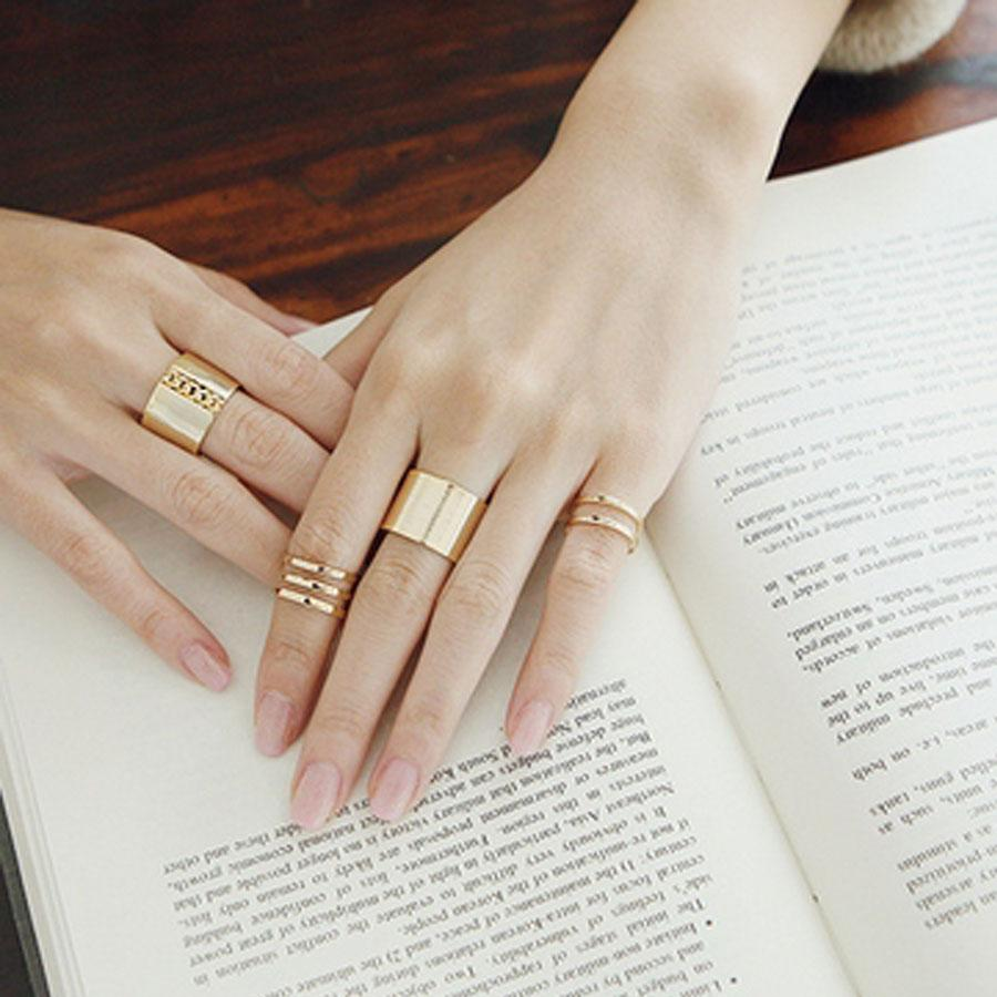 2018 Women Knuckle Open Ring Punk Golden Top Finger Middle Finger Little  Finger Cluster Rings One Set From Carmen3788048, $1.21 | Dhgate.Com