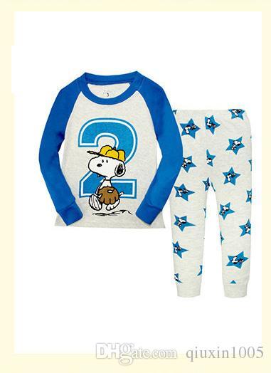 Toddler Baby Boys Girls Long Sleeve Pyjamas Captain Giraffe Rabbit Print Pajamas Set Nightwear T shirt + Pants Kids Sleepwear