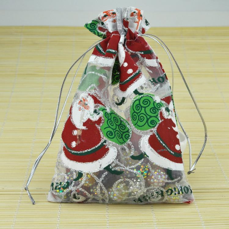 Color MINI Christmas Gift Bag Drawstring Pouch Gift Candy Pearls ...