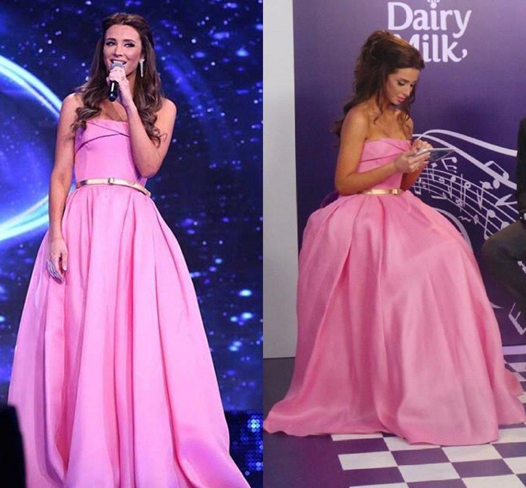 Compre 2015 Princesa Rosada De Noche De La Celebridad Vestidos ...