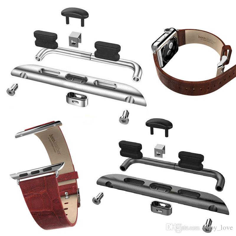 4 cores Watch Band Adapter For All Apple Watch iWatch Connection Assista Adapter banda para 42 milímetros 38 milímetros iWatch