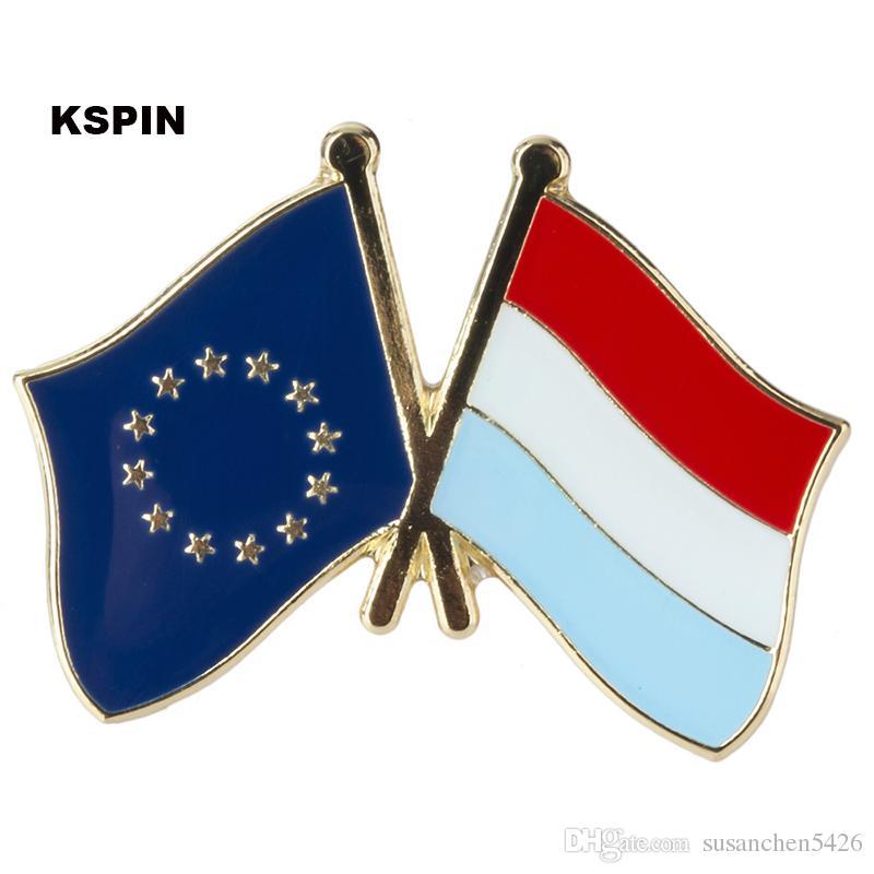 Unione europea Slovenia amicizia Bandiera Badge Bandiera Pin XY0083