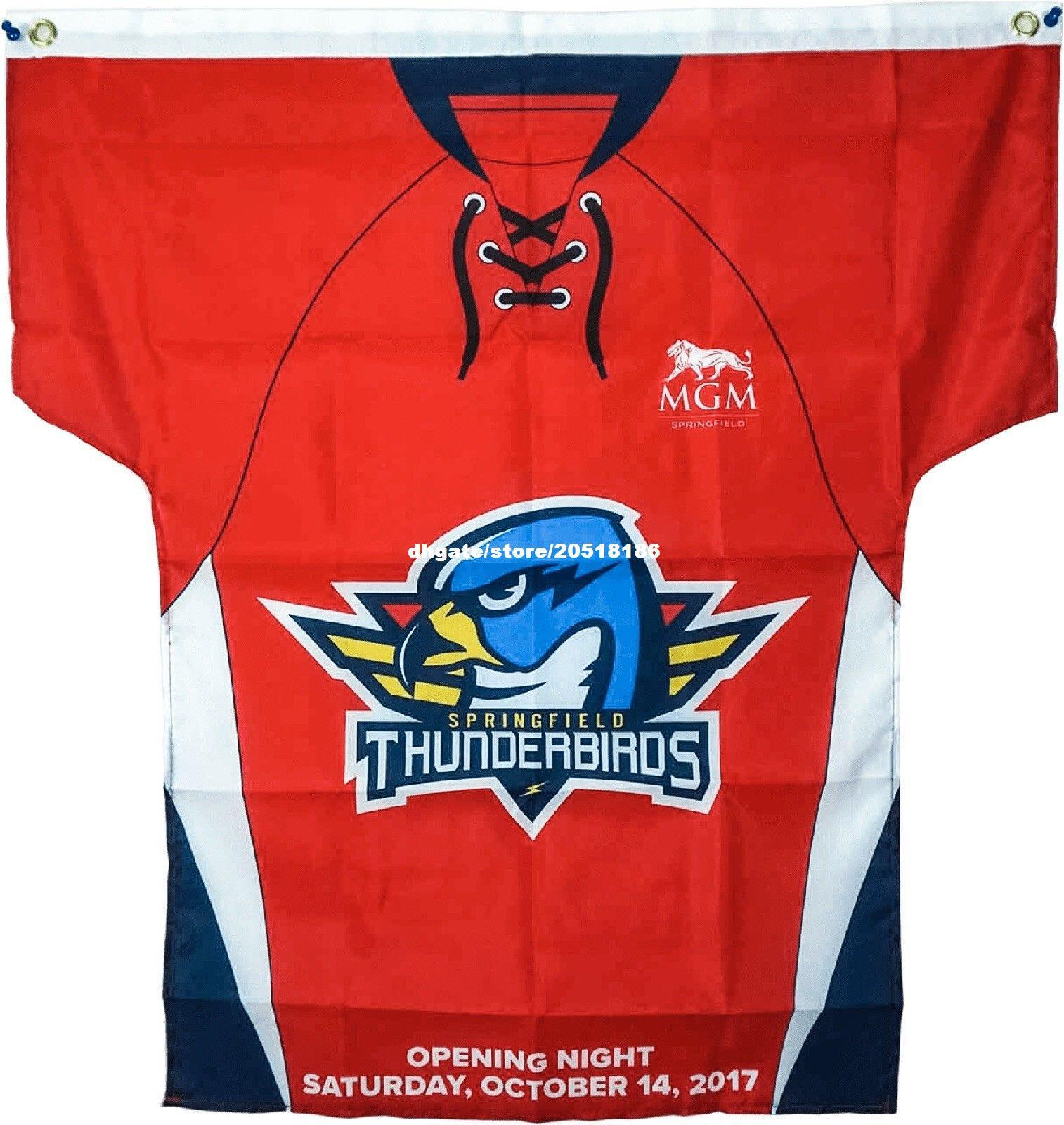 2019 Cheap Custom 2017 2018 Springfield Thunderbirds AHL Opening Night  Jerseys Banner Flag Stitched Men S Hockey Jersey From Nfljersey1 73ac8fc9f02
