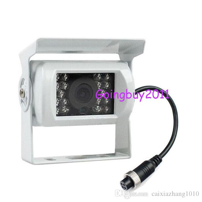 "2x White CCD Car Reverse Camera 4Pin + 7"" LCD Monitor Bus Trailer Car Rear View Kit with 15m video cable Fast shipping"
