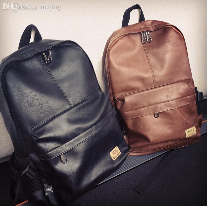 5d74e92d77 Wholesale 2015 Designer Men Backpacks Pu Leather Rucksack School Bag For  Teenagers Black Women Backpack Travel Bolsas Feminina B25 Personalized  Backpacks ...