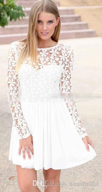 1d63f1d5b vestidos de fiesta blanco manga larga