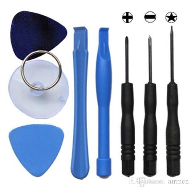 Melhor 100 conjunto  8 em 1 reparação kit de alavancagem ferramentas de abertura kit de reparação especial definir chave de fenda para apple iphone 4 4s 5 5s telefone moblie dhl livre