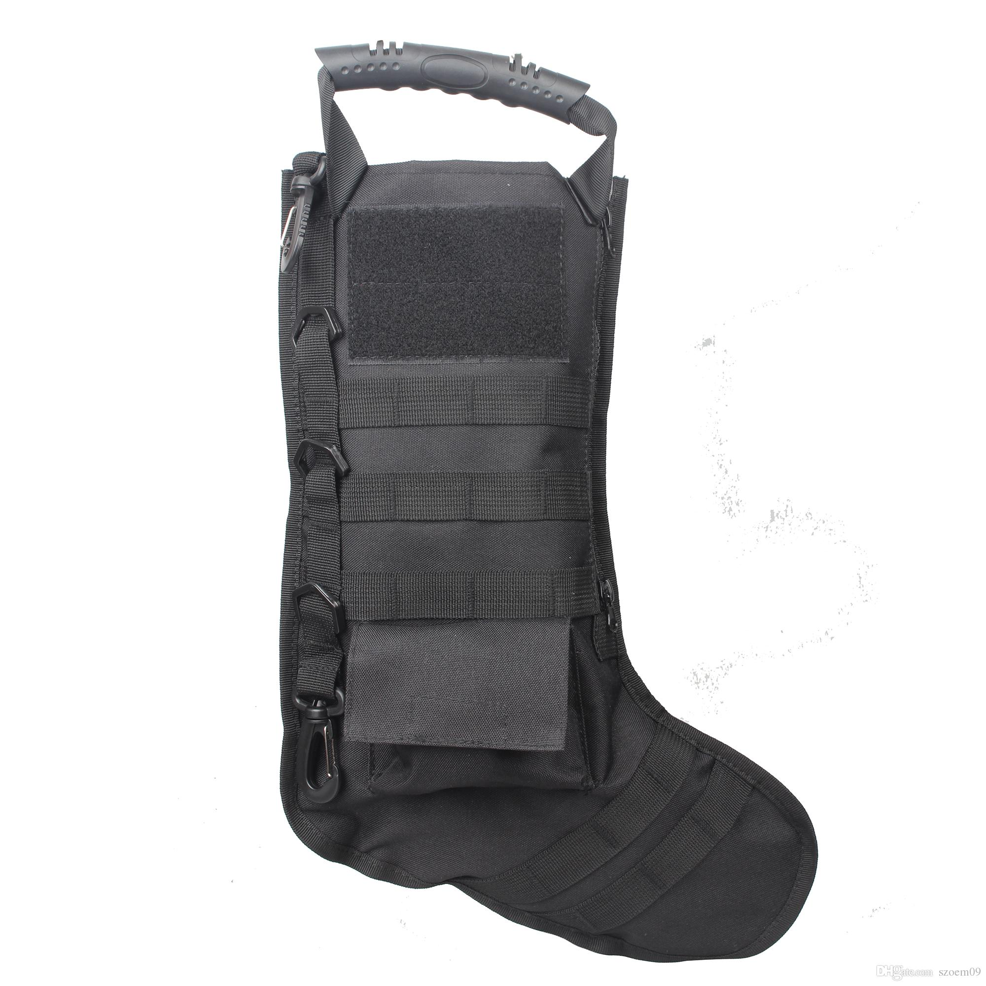2018 Christmas Stockings Tactical Vest Storage Bags Holder Hanging ...