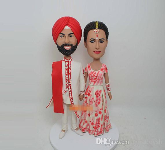 Captivating 2018 Indian Wedding Cake Topper Wedding Bobble Head Custom Cake Topper  Wedding Topper Bobblehead From Horatioysh, $149.75 | Dhgate.Com