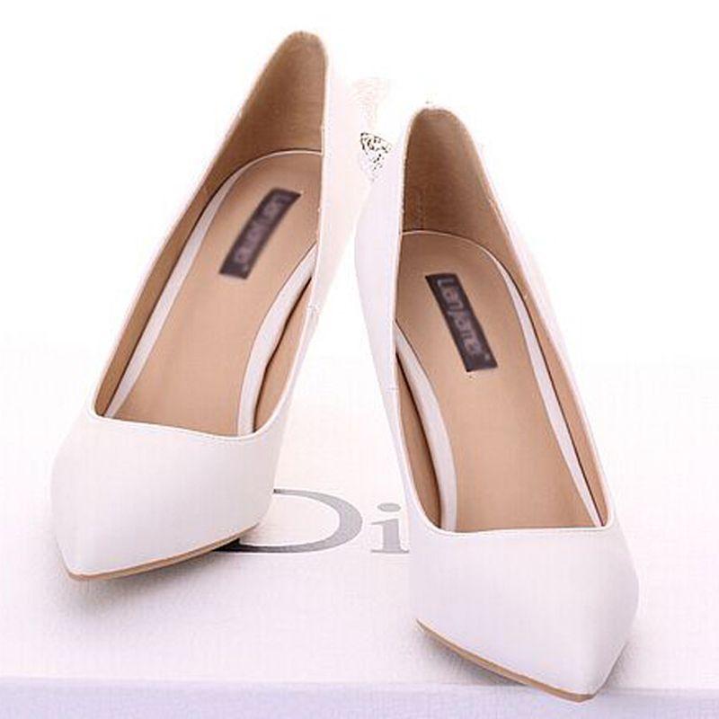 Scarpe da sera donna, scarpe da sposa, colore bianco, scarpe da discoteca da donna
