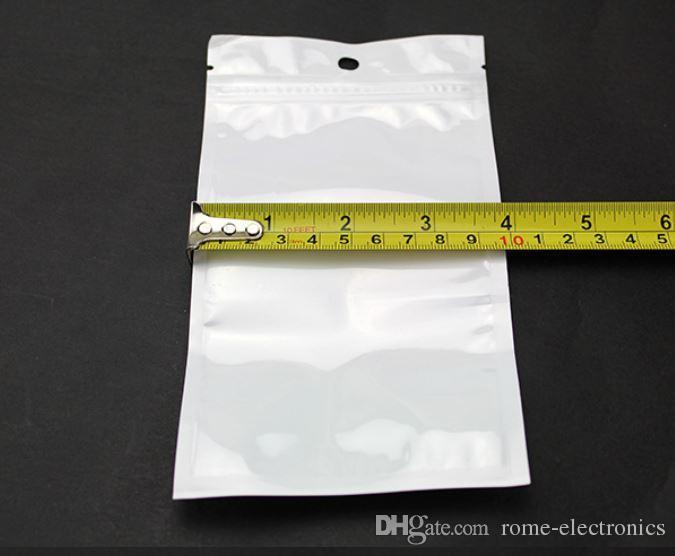Clear + white pearl Plastic Poly OPP packing Zip lock Retail Packages PVC plastic bag 10*18cm 12*15cm 7.5*12cm 14*8cm 27*18cm 12*20cm