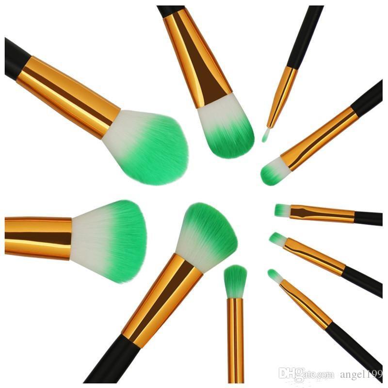 Make-up-Pinsel = 10-teiliges Set Schöne professionelle Make-up-Pinsel-Tools von DHL