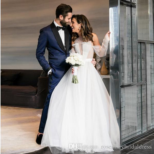 78f27e9cf Vestido De Noiva Em Cetim Veja, Porém, Vestidos De Noiva Sexy Tulle Modern  Illusion Bodice Bridal Wedding Gowns Praia Vestido De Noiva Z 40 Vestidos  Decote ...