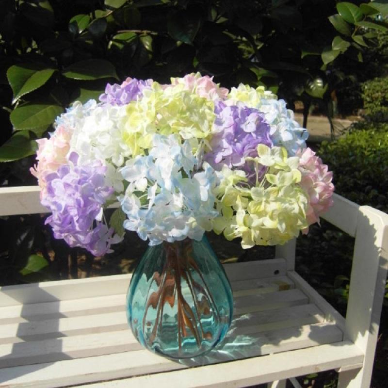 Lovely Realistic Light Purple Hydrangea Artificial Fake Flower