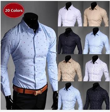 Manera Hombres Manga Alta Camisa Largas Para Delgada Camisas De Nueva Vestir Adelgazan Ocasionales La Las Los Hombre mv08wNn