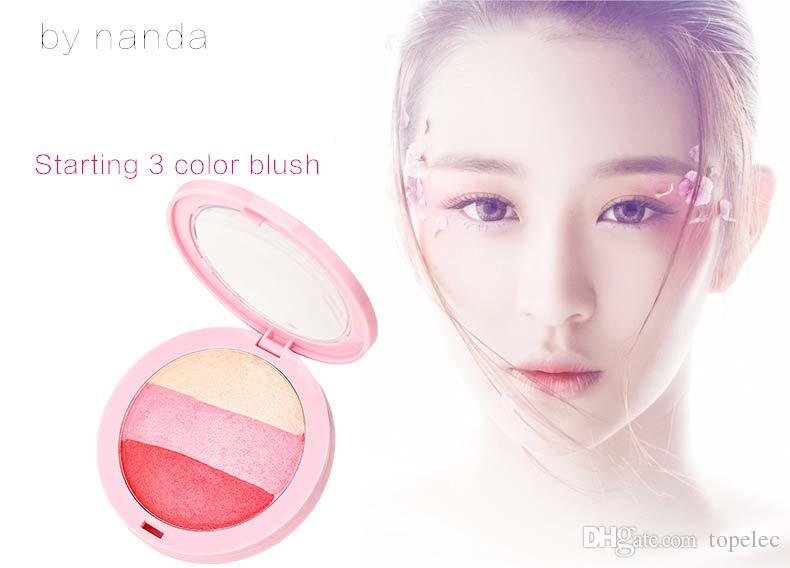 New Arrival Lady BY NANDA New Beauty Face Blush Makeup Baked Cheek Color Blusher Palette Colorete Sleek Cosmetic Face Shadow Press Powder