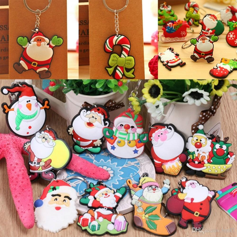5cm Santa Claus Key Chains Christmas Gift Soft Pvc Keychain Kid Toys ...