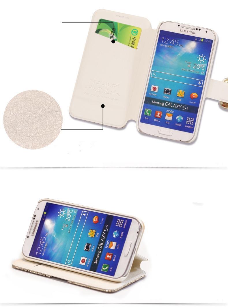 Para iphone 6 plus 5 samsung galaxy s6 nota 5 luxo moda diamante tampa da caixa do telefone celular com bling pérola titular do cartão de crédito