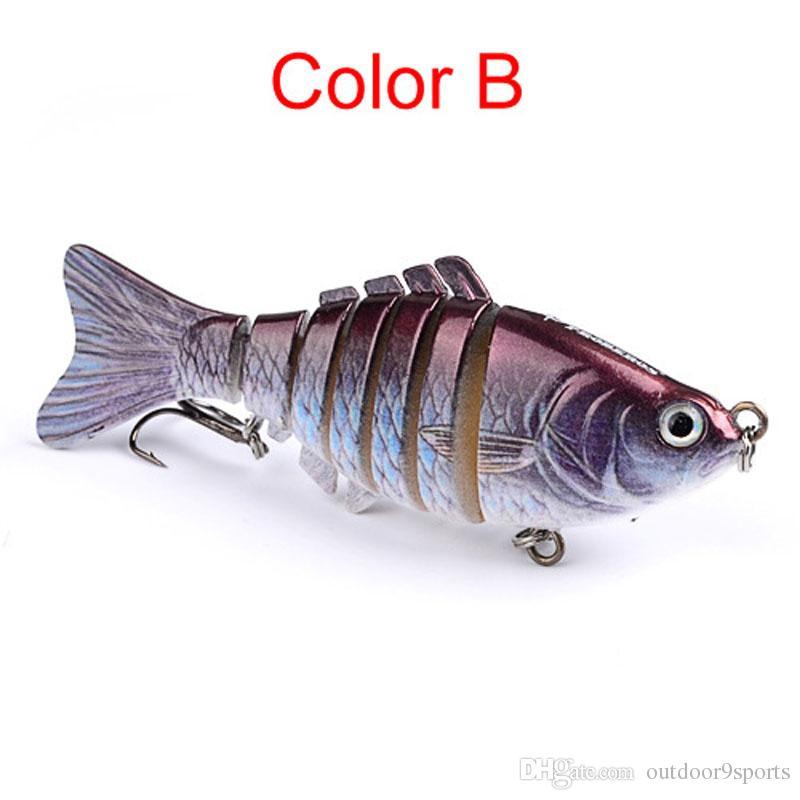5-color 10 cm 15.5g Çok kesit Balık Sert Plastik Lures Balıkçılık Kanca Balık Oltaları Balıkçılık Cazibesi Kanca Yapay Yem Pesca Yemler Mücadele