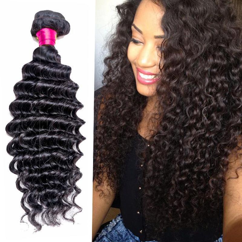 8a Remy Brazilian Hair Deep Curly Bundles Unprocessed Virgin