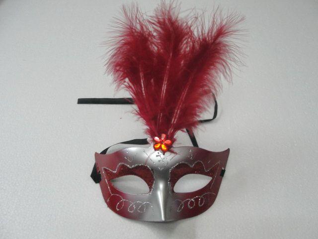Lovely feather Rhinestone mask venetian masquerade party gift christmas decoration wedding favor novelty