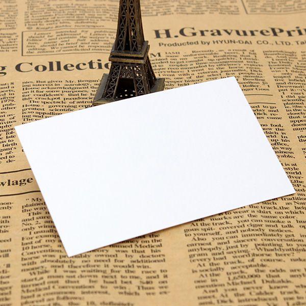 2015 Branco Cartões de visita em branco 120gsm - 90 x 55mm - Imprima o seu próprio pedido de artesanato DTY $ 18no faixa