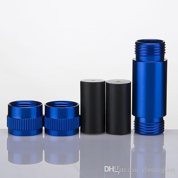 Pequeno De Alumínio Pólen Press Compressor Seco Herb Presser Tubo De Metal Tabaco Spice Presser Cor Vermelha Acessórios de Fumo