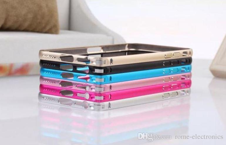 """Luxury Aluminum Metal Case Ultra Thin 0.6mm Aluminium Frame Bumper Cases For iphone6 4.7"""" Plus 5.5"""""""